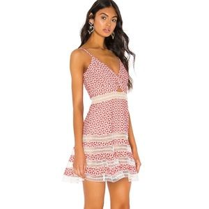 BARDOT Camille twist-front eyelet dress worn once